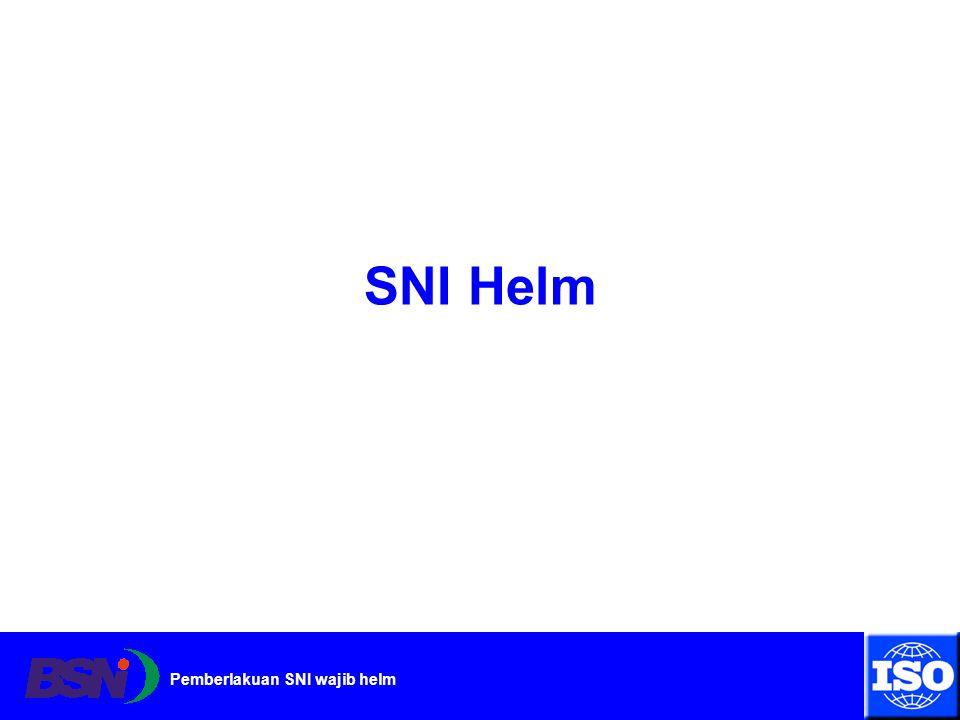 Pemberlakuan SNI wajib helm SNI Helm