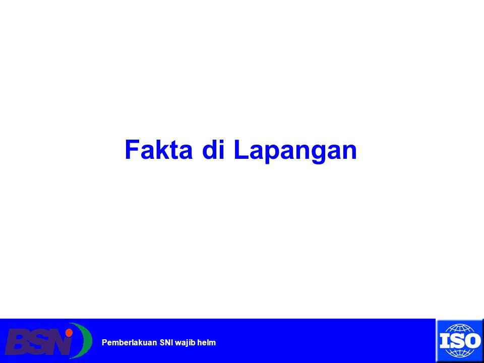 www.bsn.go.id Pemberlakuan SNI wajib helm Pertumbuhan Jumlah Kendaraan Bermotor