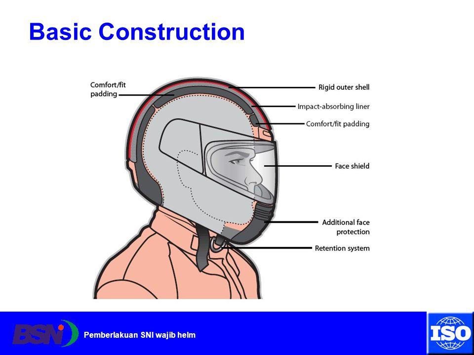 Pemberlakuan SNI wajib helm Basic Construction