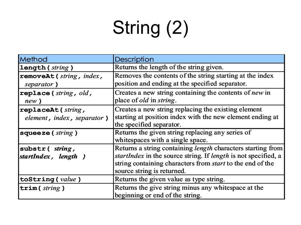 String (2)