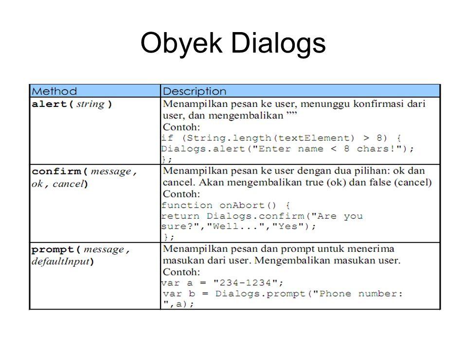 Obyek Dialogs