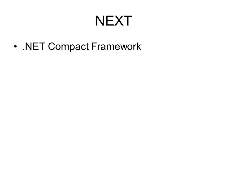 NEXT.NET Compact Framework