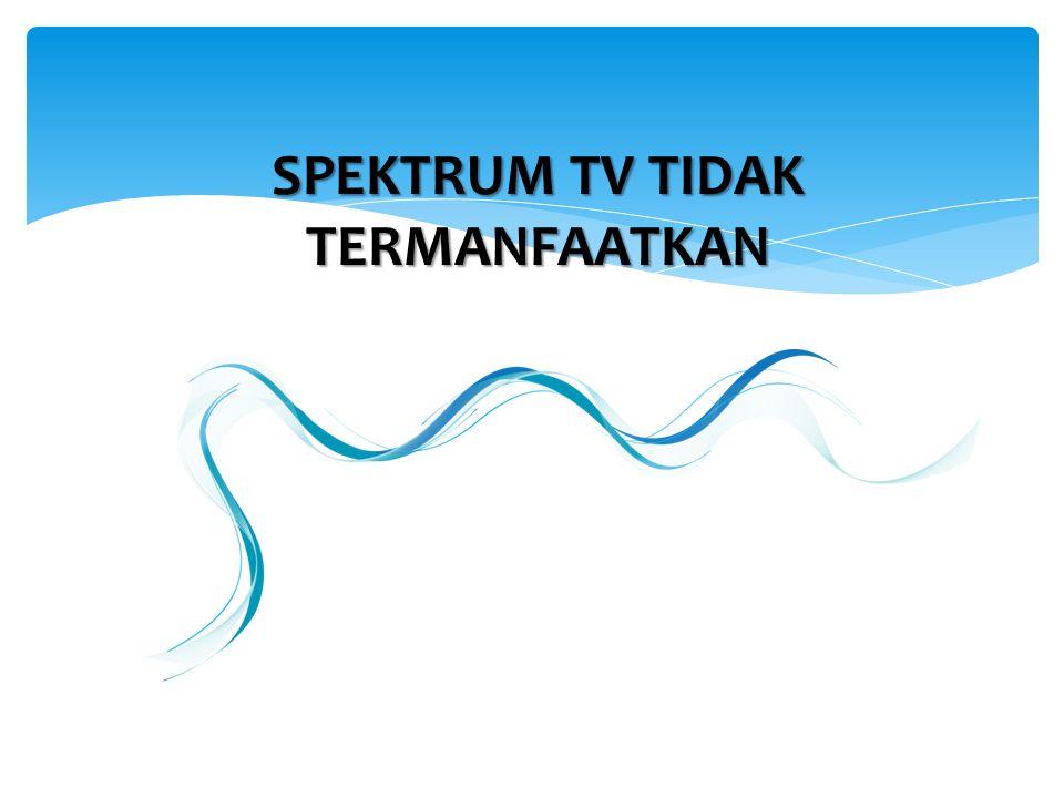 SPEKTRUM TV TIDAK TERMANFAATKAN