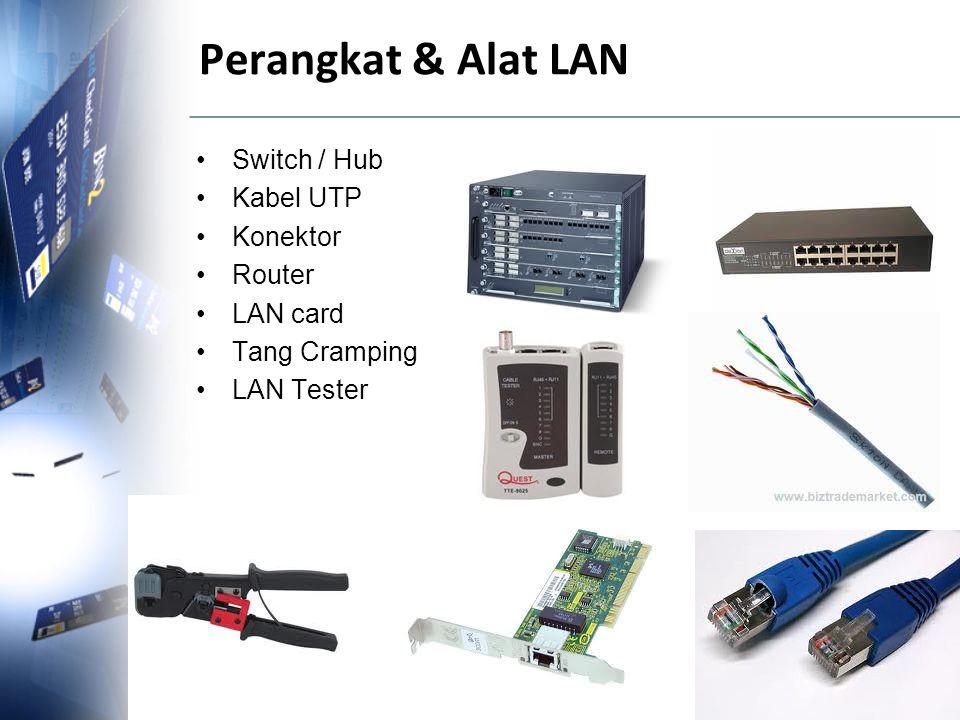 Perangkat & Alat LAN Switch / Hub Kabel UTP Konektor Router LAN card Tang Cramping LAN Tester