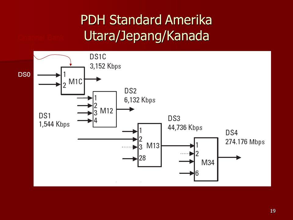 19 PDH Standard Amerika Utara/Jepang/Kanada Channel Bank DS0