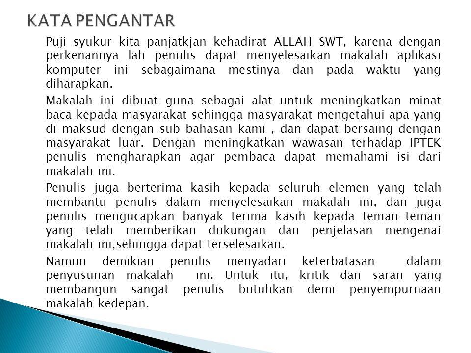 UNIVERSITAS MERCU BUANA FAKULTAS TEKNIK SIPIL JAKARTA 2014 TUGAS APLIKASI KOMPUTER MAKALAH BLU RAY DOSEN : DESI RAMAYANTI S.Kom.,MT