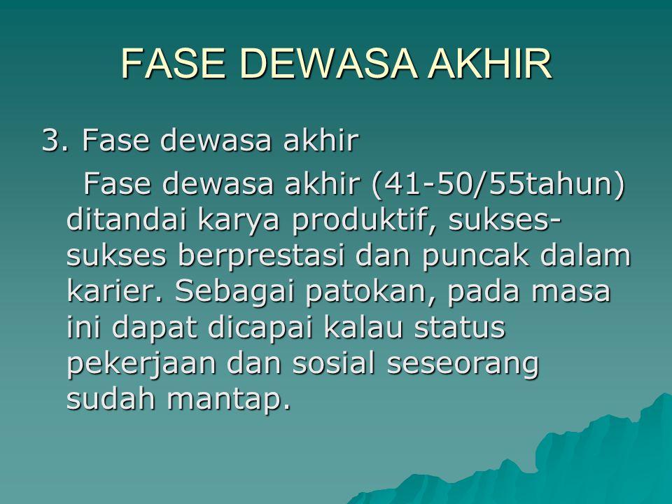 FASE DEWASA AKHIR 3.