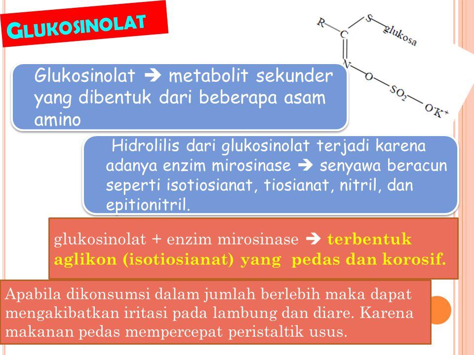 E FEK UTAMA PRODUK HIDROLISIS GLUKOSINOLAT 1.