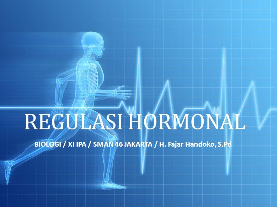 REGULASI HORMONAL BIOLOGI / XI IPA / SMAN 46 JAKARTA / H. Fajar Handoko, S.Pd