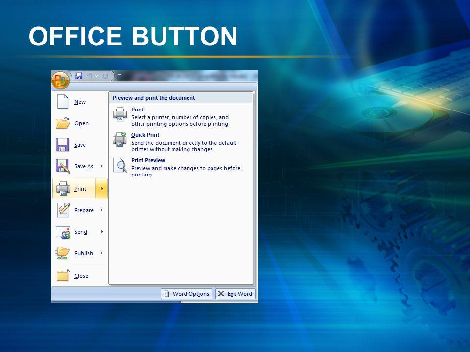 Peta Konsep Perangkat Lunak Pengolah Kata Tab Ribbon Pada Microsoft Word 2007 Office Button Tab Home Clipboard Font Paragraph Styles Editing Tab Inser