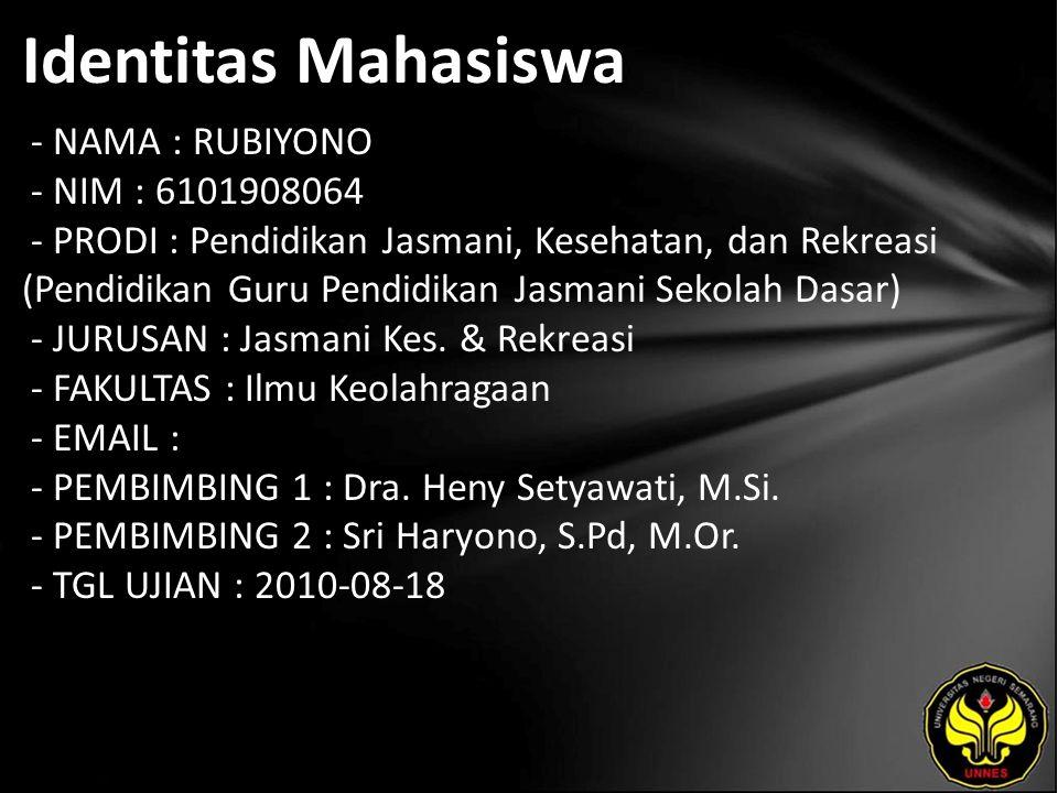 Judul PEMBINAAN PRESTASI OLAHRAGA SENAM ARTISTIK DI KABUPATEN PEMALANG TAHUN 2010