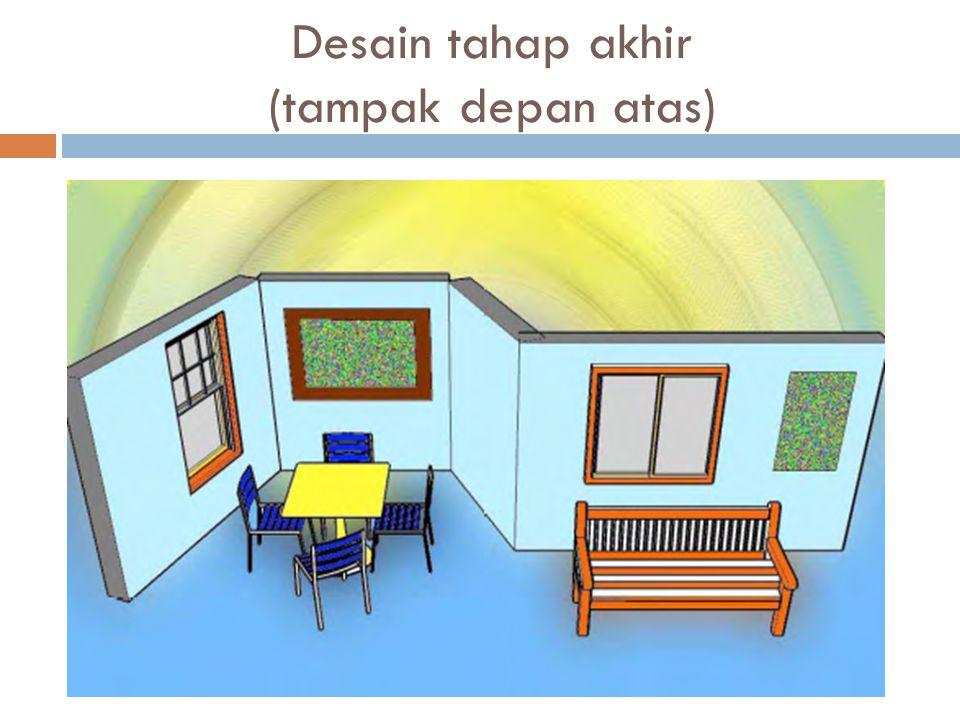 Desain tahap akhir (tampak depan atas)