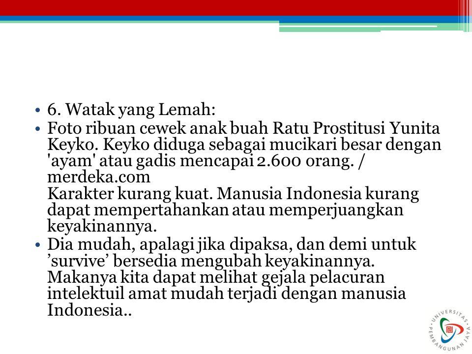 6. Watak yang Lemah: Foto ribuan cewek anak buah Ratu Prostitusi Yunita Keyko. Keyko diduga sebagai mucikari besar dengan 'ayam' atau gadis mencapai 2