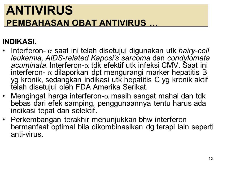 14 ANTIVIRUS PEMILIHAN OBAT PD INFEKSI VIRUS TTT 1.