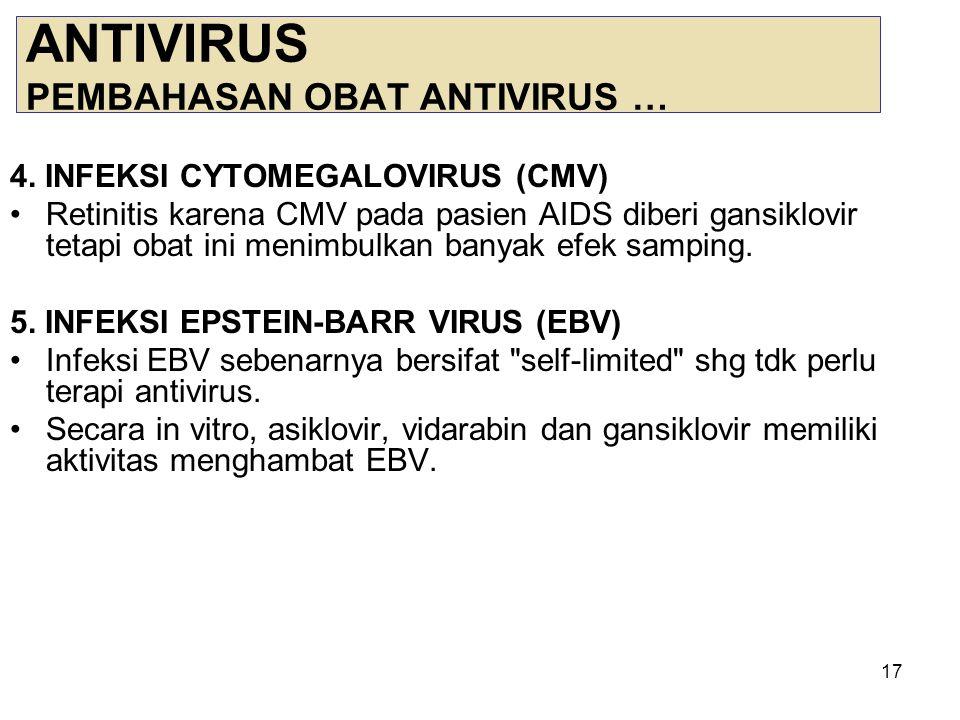18 ANTIVIRUS PEMBAHASAN OBAT ANTIVIRUS … 6.