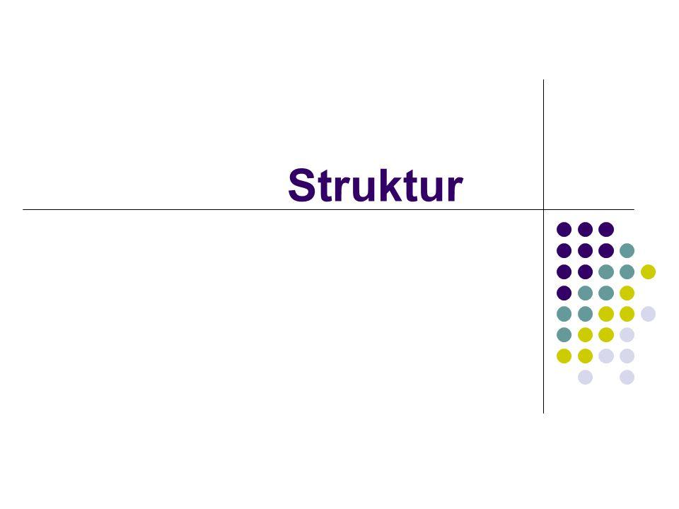 Digunakan untuk mengelompokkan data dengan type yg berbeda dalam beberapa bahasa pemrograman biasa nya disebut sebagai record contoh : struct data_tanggal { int tahun ; int bulan ; int tanggal ; } ; data_tanggal adalah nama dari struktur yg di buat dan tahun bulan tanggal disebut sebagai anggota dari struktur data_tanggal