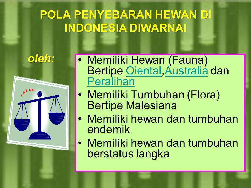 BIODIVERSITY IN INDONESIAINDONESIA Dipandang dari segi biodiversitas, posisi geografis Indonesia sangat menguntungkan. terletak di katulistiwa. Dengan