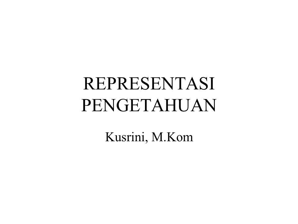 REPRESENTASI PENGETAHUAN Kusrini, M.Kom