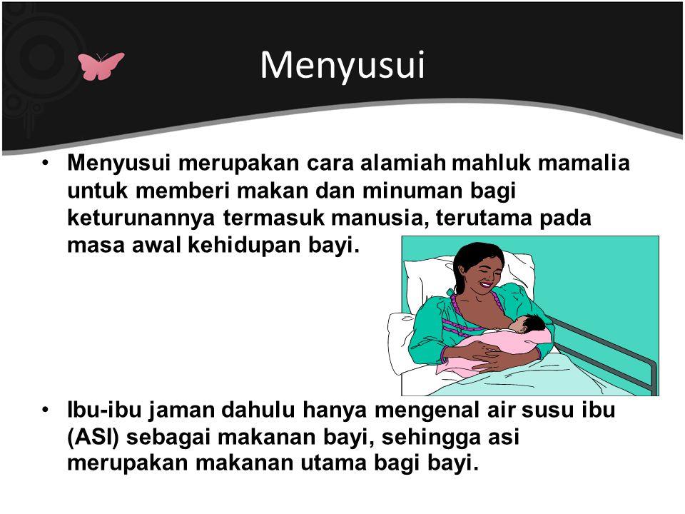 Dampak Kekurangan Gizi Ibu Menyusui Kekurangan gizi pada ibu menyusui menimbulkan gangguan kesehatan pada ibu dan bayinya.
