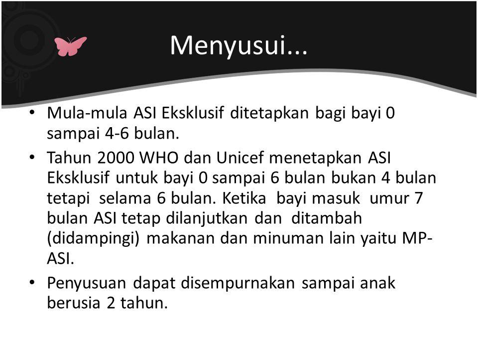 Menyusui...Bagaimana di Indonesia ?.