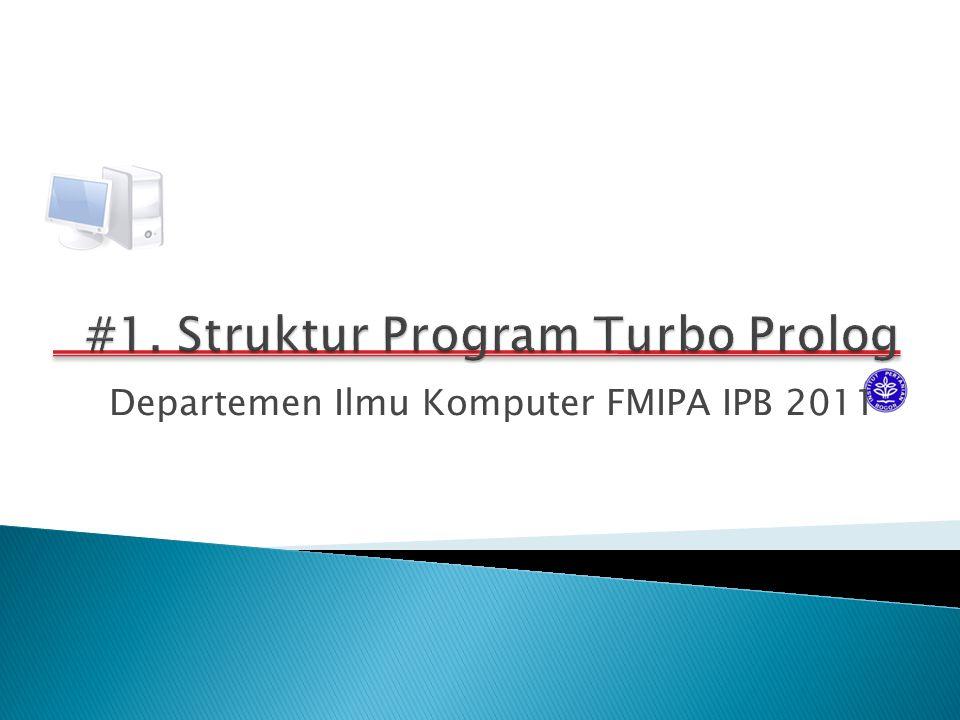Departemen Ilmu Komputer FMIPA IPB 2011