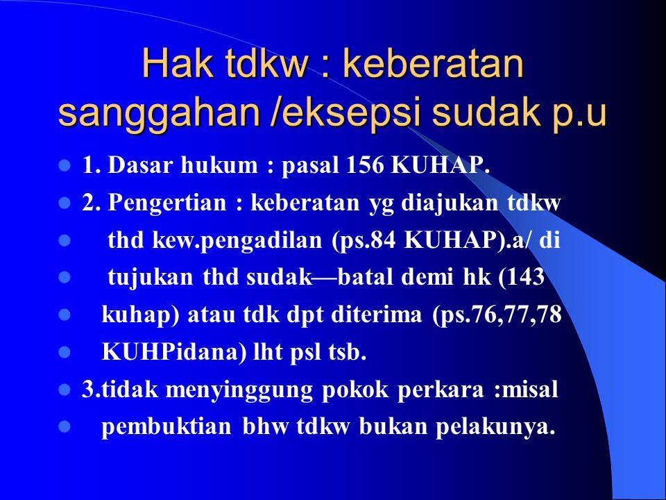 Pembukaan sidang 1. Pihak 2 lengkap : majelis, pu.tdkw/adv, pan-pengg. 2. Hakim ketua majeis membuka sidang dg pernyataan sidang dibuka u/umum(tertu-