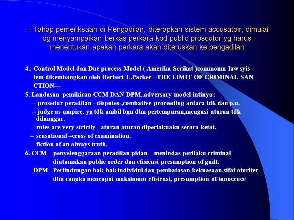 MENGENYAMPINGKAN PERKARA PASAL 46 AYAT (1) huruf c.