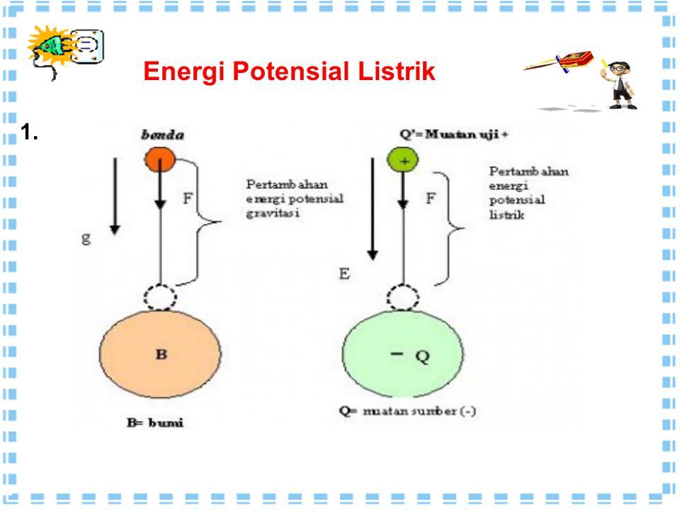 Gaya Coulomb dan medan listrik merupakan besaran vektor,  Energi potensial listrik dan potensial listrik merupakan besaran skalar  Energi potensia