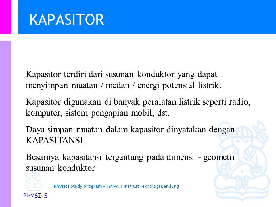 Physics Study Program - FMIPA | Institut Teknologi Bandung PHYSI S Beberapa jenis kapasitor