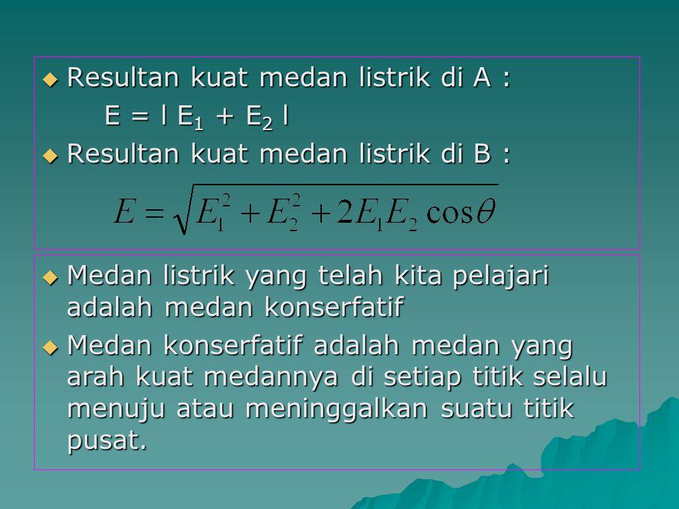Dua muatan q 1 = 12 μC dan q 2 = -28,45 μC berjarak 10 cm satu sama lain.