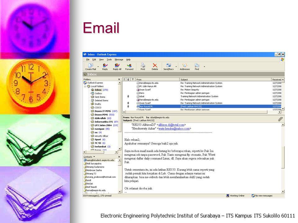 Electronic Engineering Polytechnic Institut of Surabaya – ITS Kampus ITS Sukolilo 60111 Email