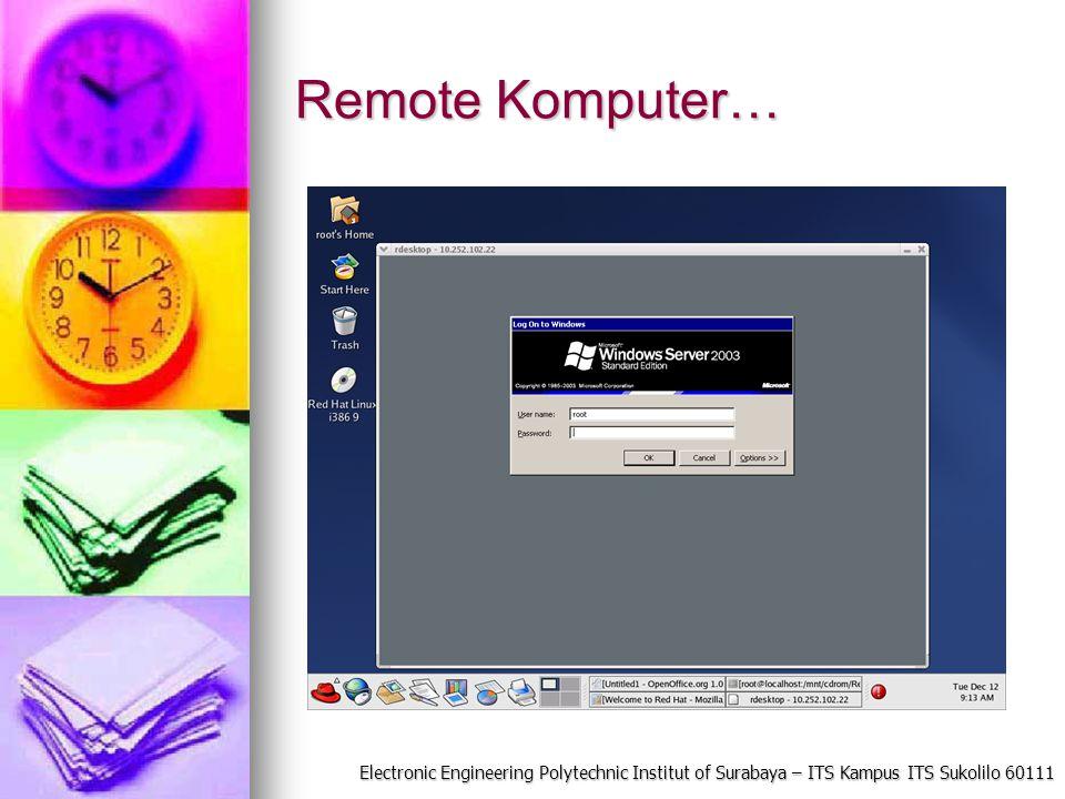 Electronic Engineering Polytechnic Institut of Surabaya – ITS Kampus ITS Sukolilo 60111 Remote Komputer…