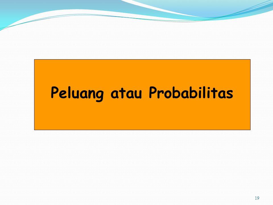 19 Peluang atau Probabilitas
