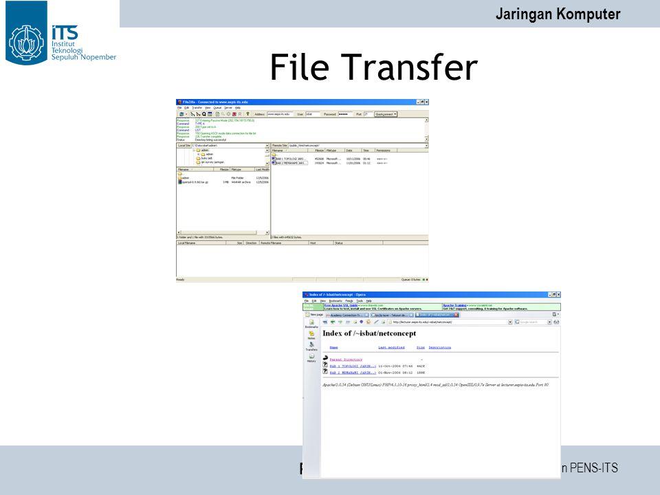 Tim Dosen PENS-ITS Jaringan Komputer PENS-ITS File Transfer