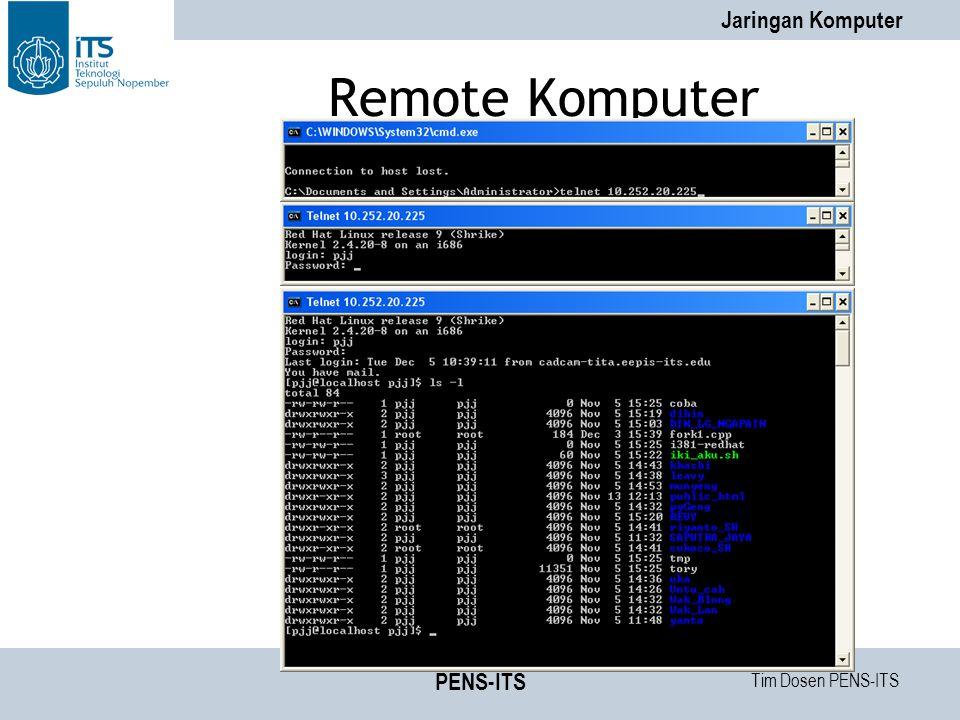 Tim Dosen PENS-ITS Jaringan Komputer PENS-ITS Remote Komputer