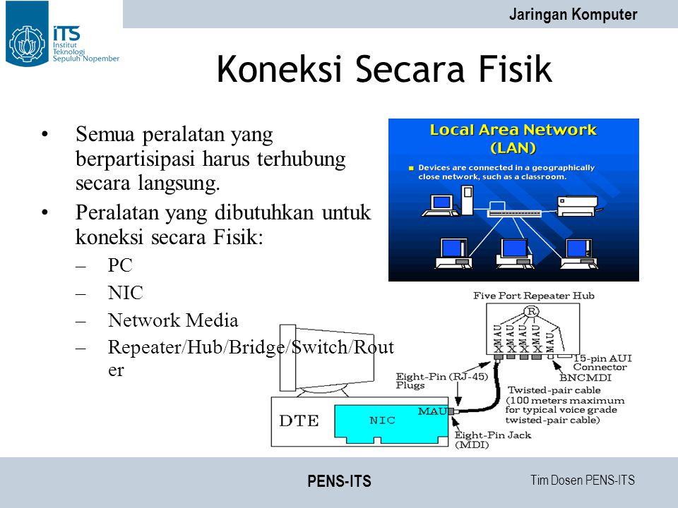 Tim Dosen PENS-ITS Jaringan Komputer PENS-ITS Bagaimana Komputer Bisa Saling Berhubungan .