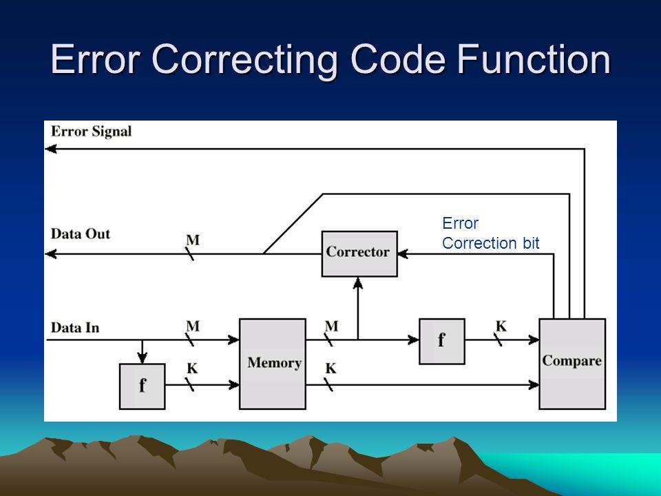 Error Correcting Code Function Error Correction bit