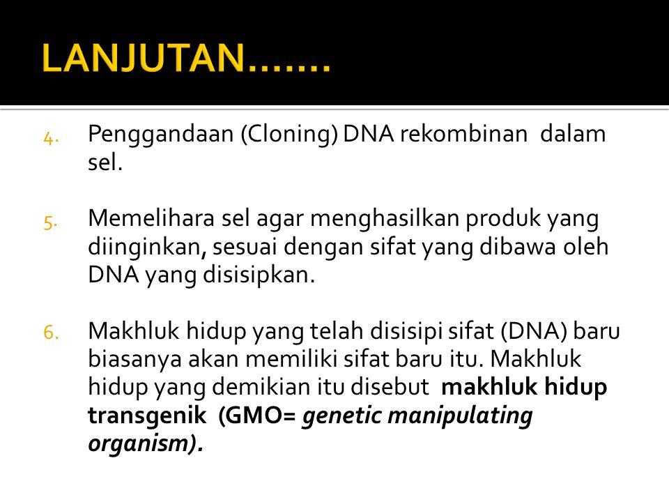 TAHAPAN PEMBENTUKAN DNA REKOMBINAN 1.