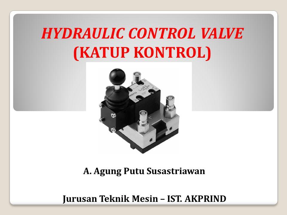 A. Agung Putu Susastriawan Jurusan Teknik Mesin – IST. AKPRIND HYDRAULIC CONTROL VALVE (KATUP KONTROL)
