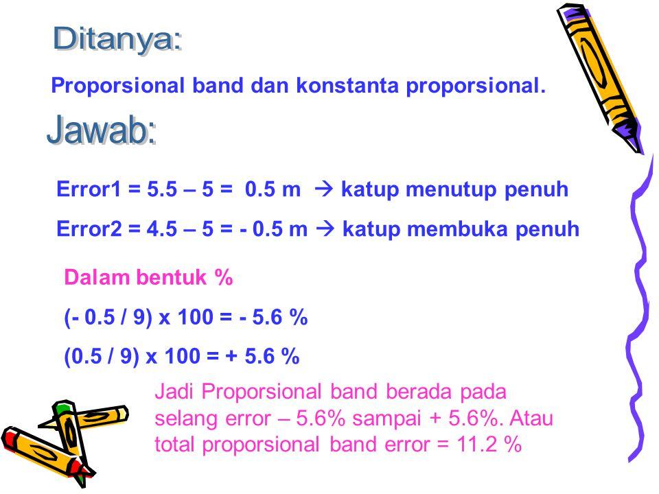 Proporsional band dan konstanta proporsional.