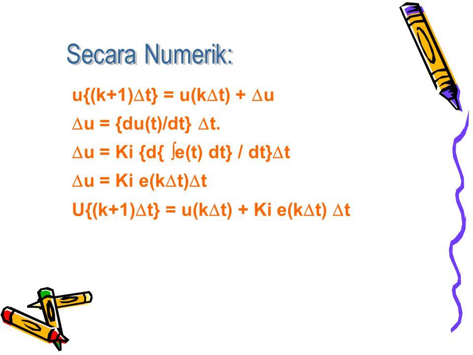 u{(k+1)  t} = u(k  t) +  u  u = {du(t)/dt}  t.