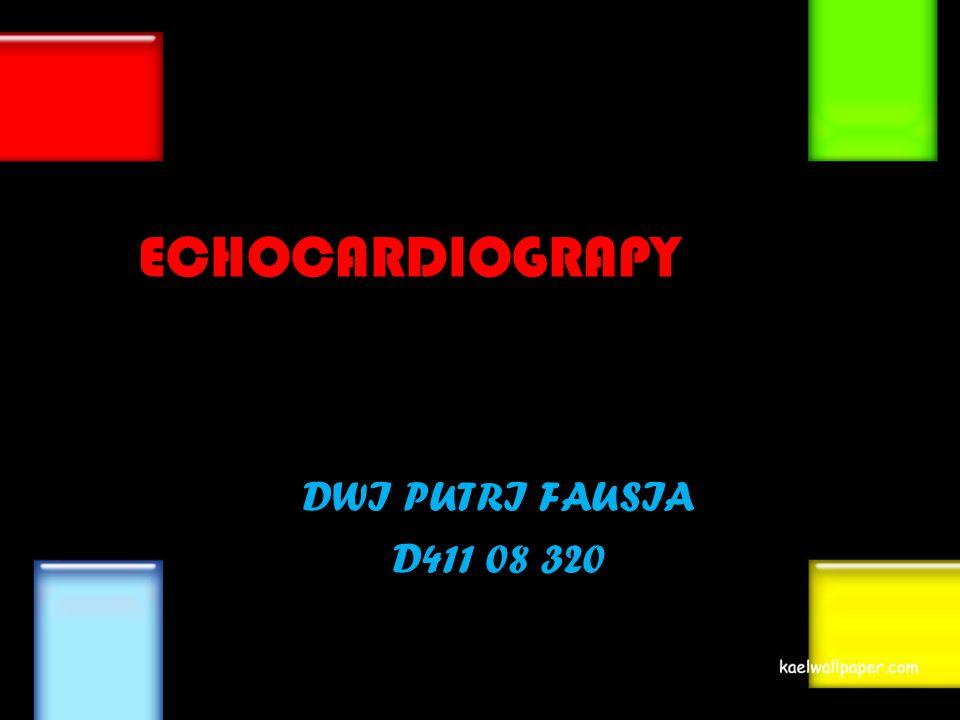 PENGERTIAN Echocardiograpy merupakan prosedur diagnostik yang menggunakan gelombang suara ultrasound dengan frekuensi 2-6 MHz untuk mengamati struktur jantung dan pembuluh darah, serta menilai fungsi jantung.