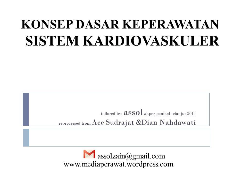 tailored by: assol -akper-pemkab-cianjur 2014 reprocessed from Ace Sudrajat &Dian Nahdawati assolzain@gmail.com www.mediaperawat.wordpress.com