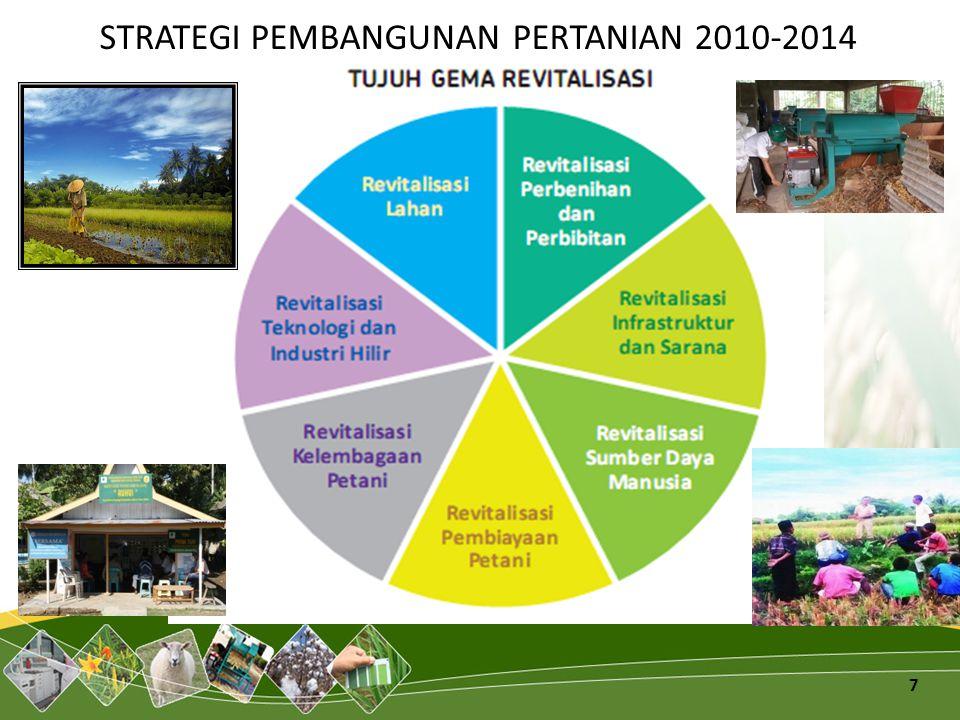 STRATEGI PEMBANGUNAN PERTANIAN 2010-2014 7