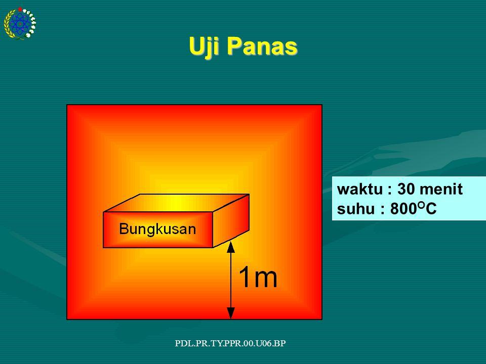 PDL.PR.TY.PPR.00.U06.BP Uji Panas waktu : 30 menit suhu : 800 O C