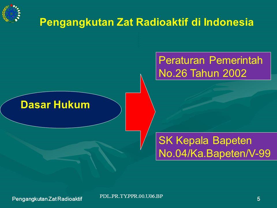 PDL.PR.TY.PPR.00.U06.BP Pengangkutan Zat Radioaktif6 Pemindahan ZRA di dalam suatu instalasi.