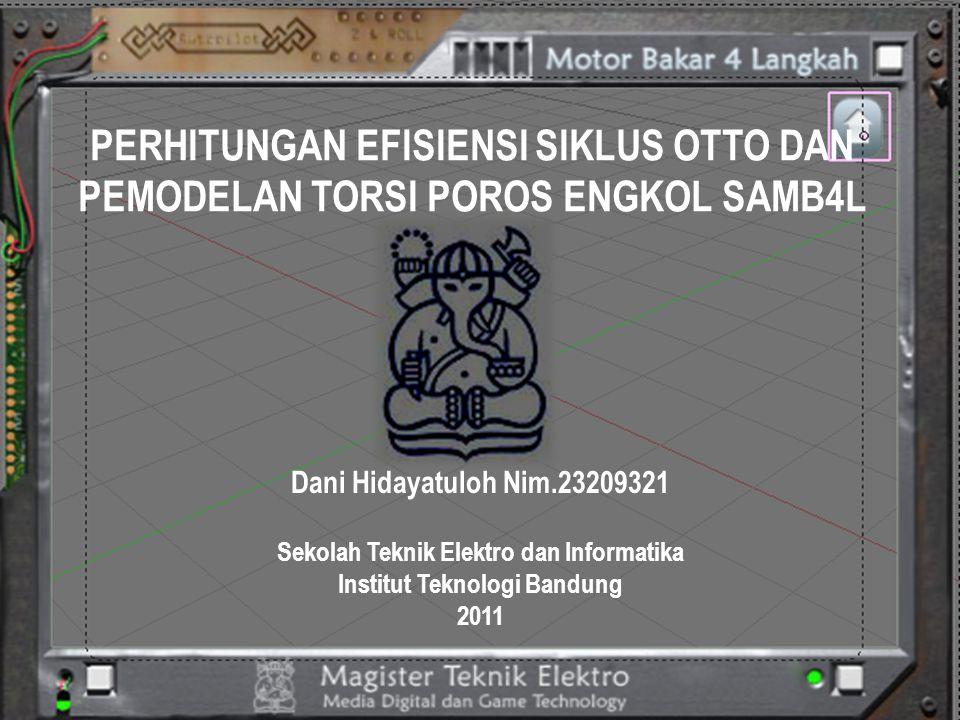 Pengujian Torsi Gas Poros Engkol dari Edit Karburator : IMAS-ISAS diputar  45 0 searah jarum jam, nilai torsi = 0,003600 (motor bakar bergerak lebih cepat).