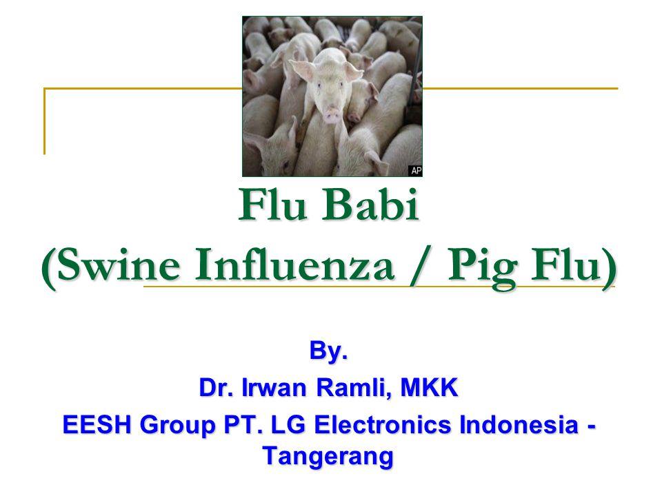 Pendahuluan Virus influenza A (H1N1)/ flu babi menggetarkan banyak negara karena penyebarannya sudah sampai antar manusia.