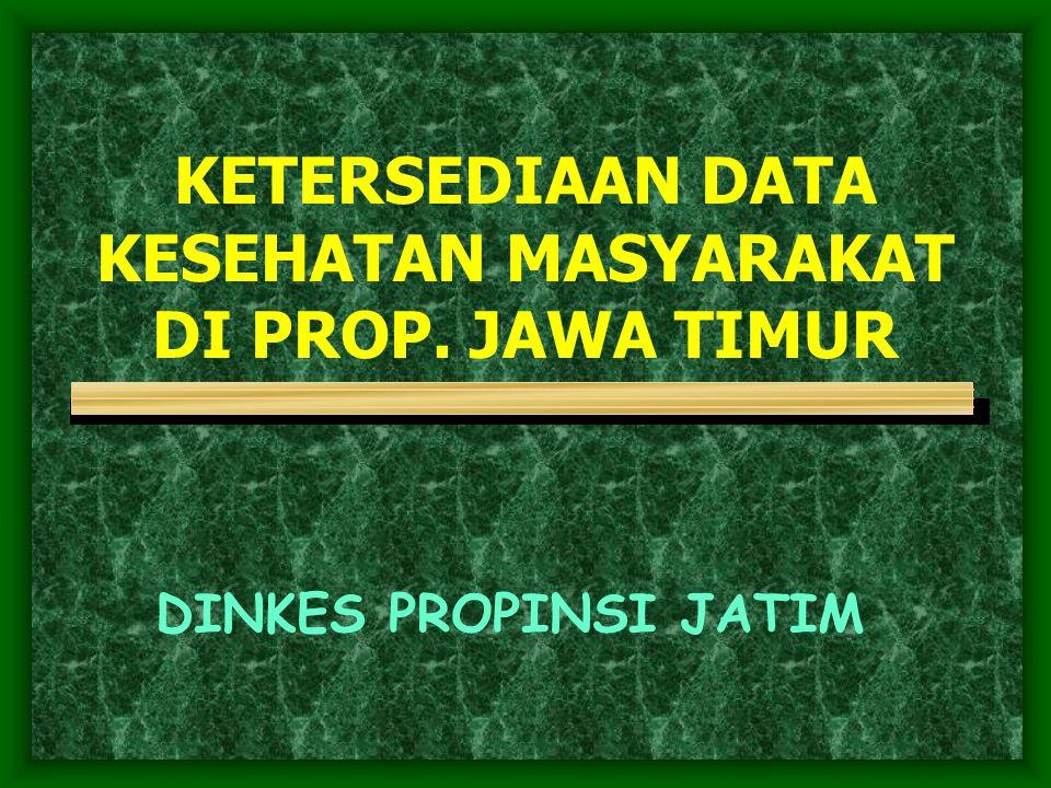 KETERSEDIAAN DATA KESEHATAN MASYARAKAT DI PROP. JAWA TIMUR DINKES PROPINSI JATIM