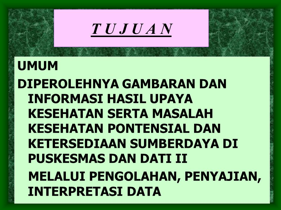 KETERSEDIAAN DATA PENGUMPULAN PENGOLAHAN DATA ANALISA DATA INTERPRETASI